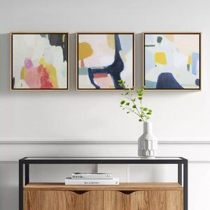 HP 🎉 NWT Project 62™ 3 Abstract Framed Canvas
